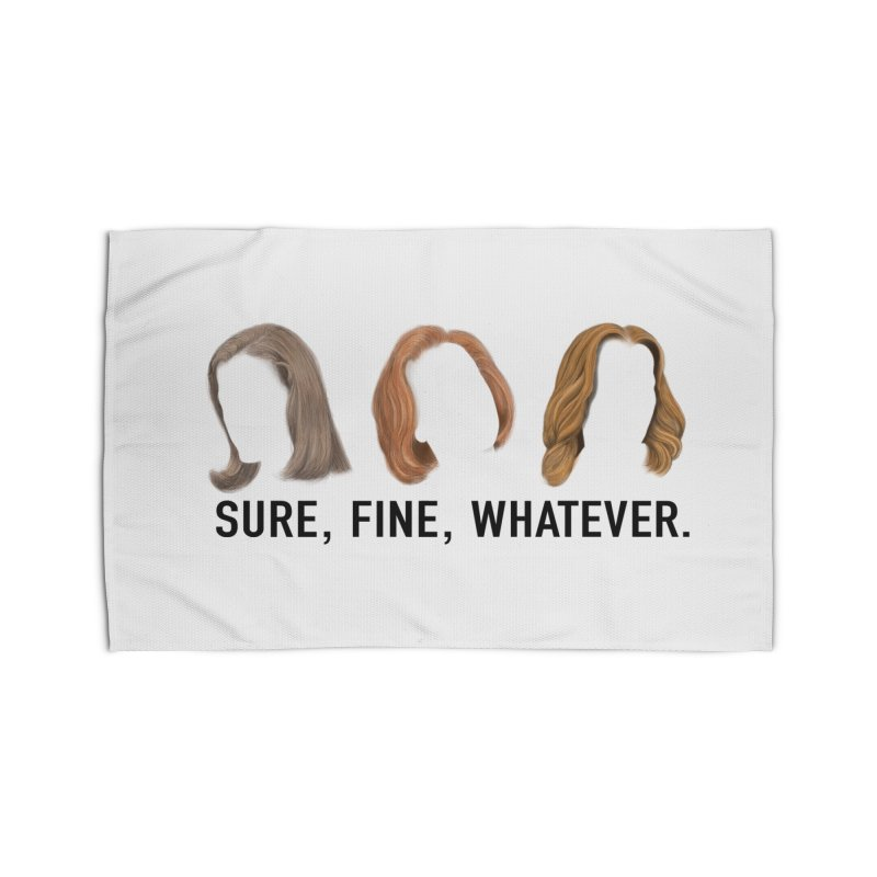 Sure, Fine, Whatever. Home Rug by Jessika Savage Artist Shop