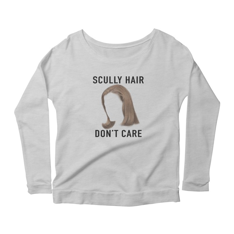 Scully Hair Don't Care - Pilot Women's Scoop Neck Longsleeve T-Shirt by Jessika Savage Artist Shop