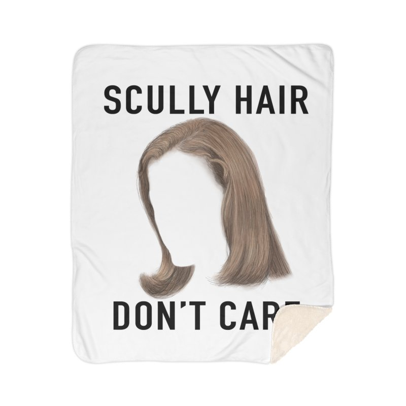 Scully Hair Don't Care - Pilot Home Sherpa Blanket Blanket by Jessika Savage Artist Shop