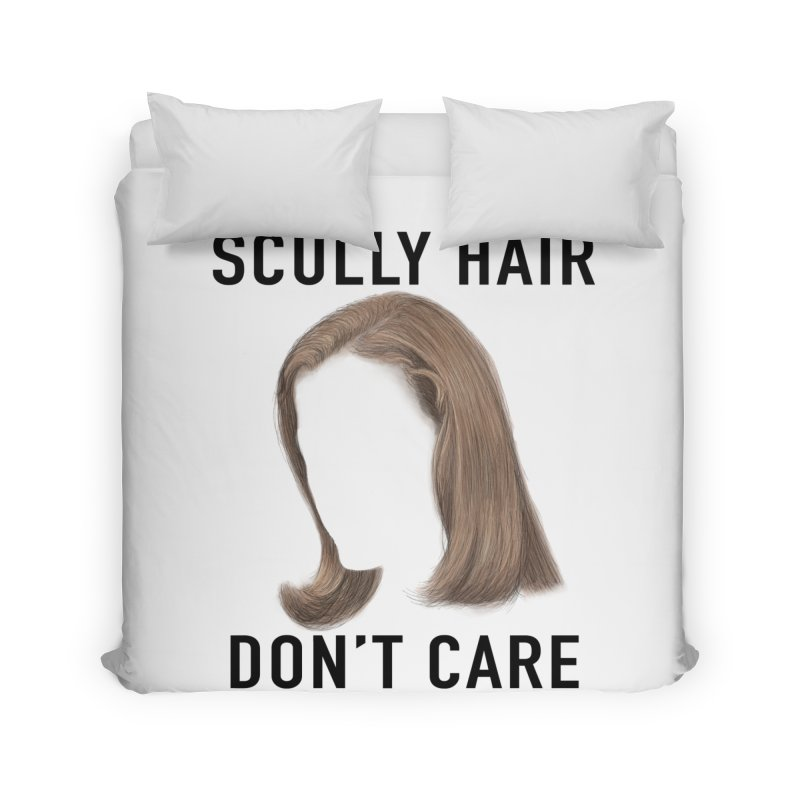 Scully Hair Don't Care - Pilot Home Duvet by Jessika Savage Artist Shop