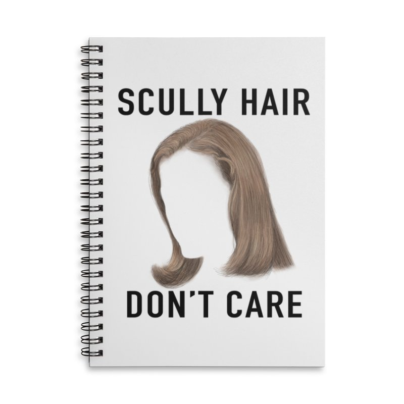 Scully Hair Don't Care - Pilot Accessories Lined Spiral Notebook by Jessika Savage Artist Shop