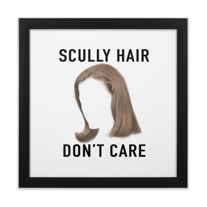 Scully Hair Don't Care - Pilot Home Framed Fine Art Print by Jessika Savage Artist Shop