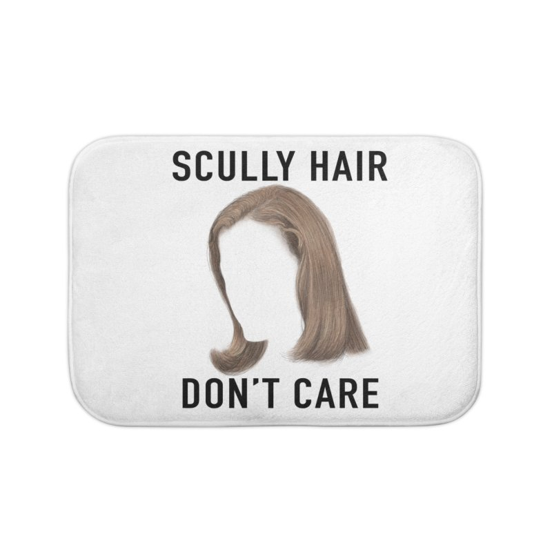 Scully Hair Don't Care - Pilot Home Bath Mat by Jessika Savage Artist Shop