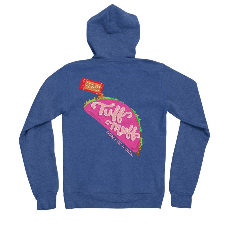Tuff Muff Taco Men's Sponge Fleece Zip-Up Hoody by Jessika Savage Artist Shop