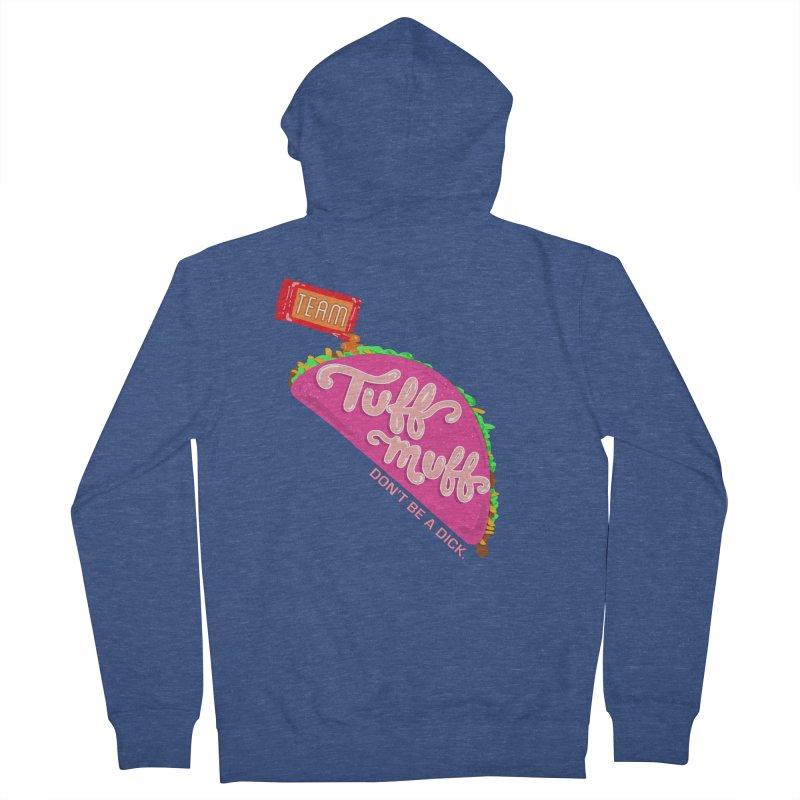 Tuff Muff Taco Men's Zip-Up Hoody by Jessika Savage Artist Shop