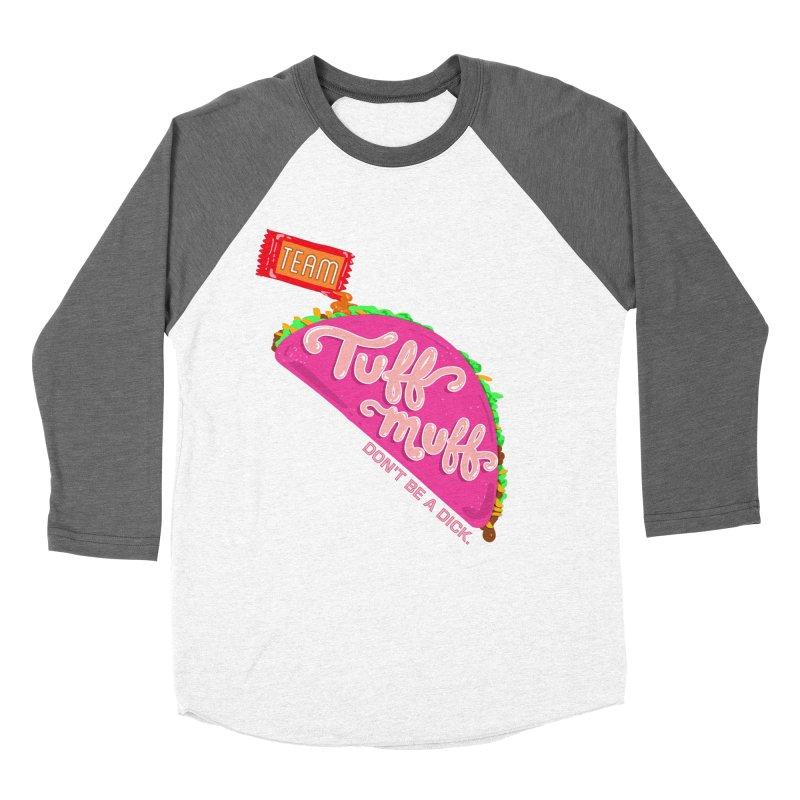 Tuff Muff Taco Women's Baseball Triblend Longsleeve T-Shirt by Jessika Savage Artist Shop