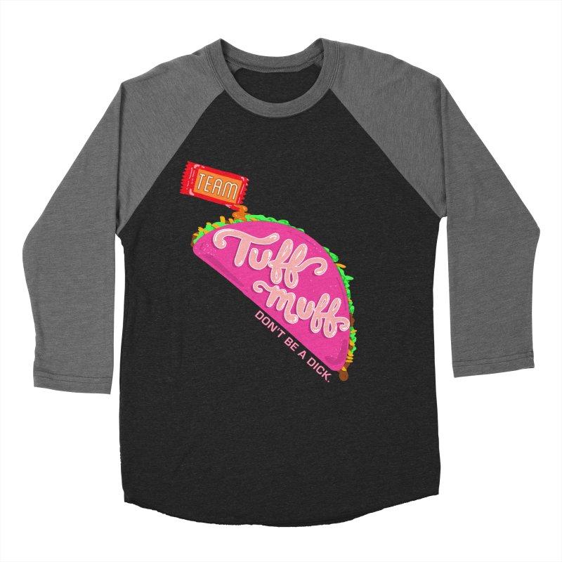 Tuff Muff Taco Men's Baseball Triblend Longsleeve T-Shirt by Jessika Savage Artist Shop