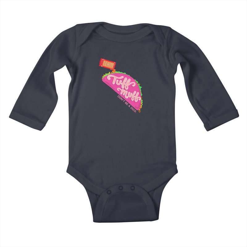 Tuff Muff Taco Kids Baby Longsleeve Bodysuit by Jessika Savage Artist Shop