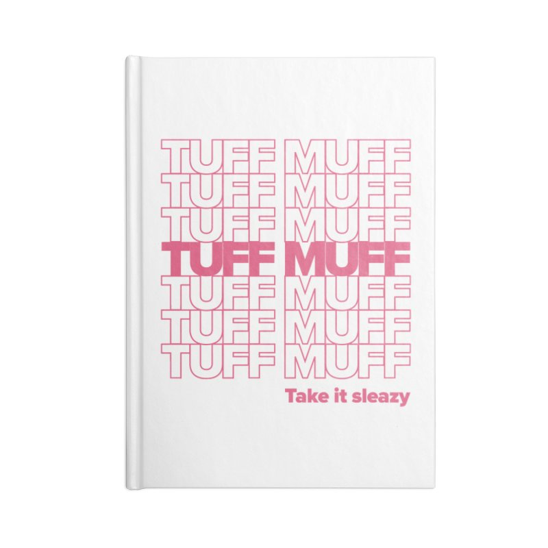 Tuff Muff - pink Accessories Blank Journal Notebook by Jessika Savage Artist Shop