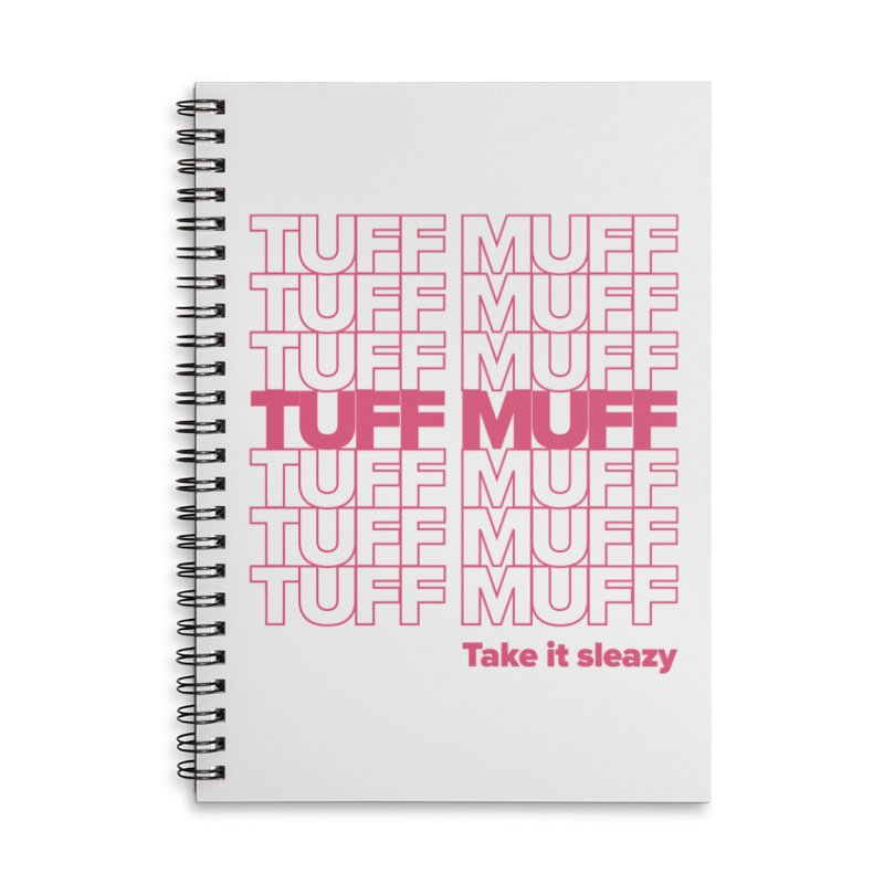Tuff Muff - pink Accessories Lined Spiral Notebook by Jessika Savage Artist Shop