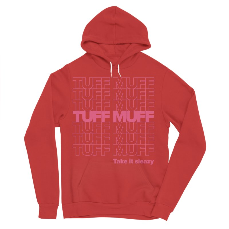 Tuff Muff - pink Men's Pullover Hoody by Jessika Savage Artist Shop