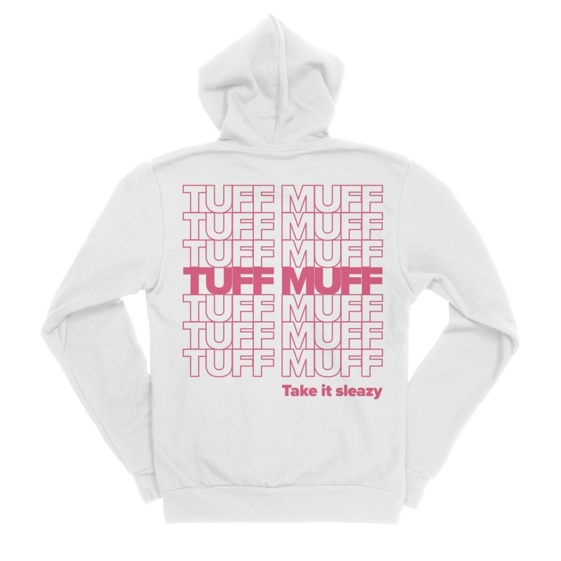 Tuff Muff - pink Men's Sponge Fleece Zip-Up Hoody by Jessika Savage Artist Shop