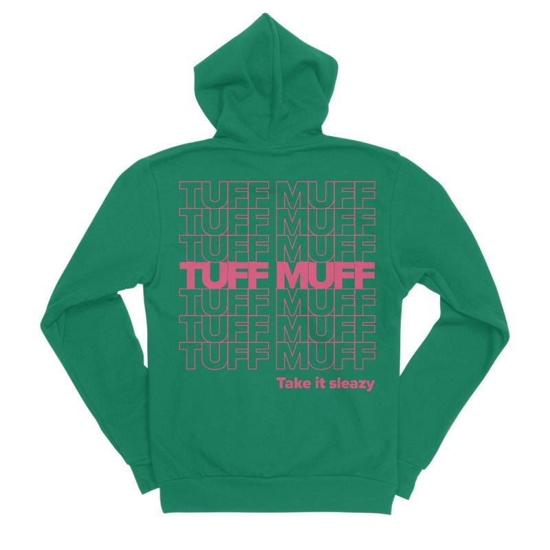 Tuff Muff - pink Women's Sponge Fleece Zip-Up Hoody by Jessika Savage Artist Shop