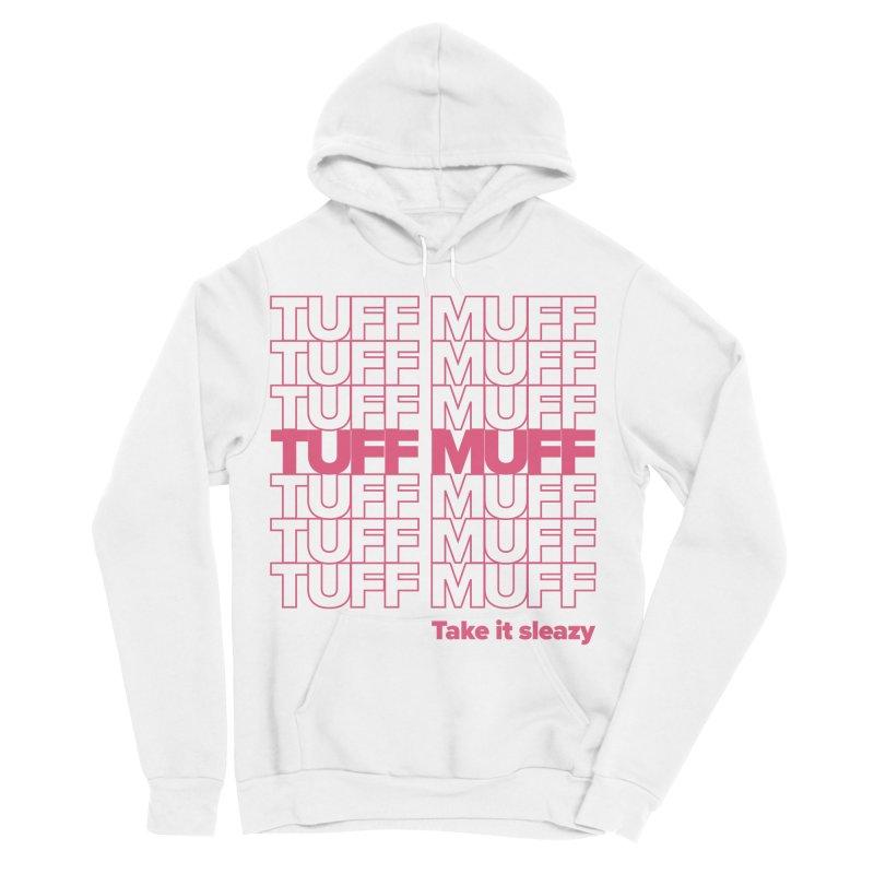 Tuff Muff - pink Women's Sponge Fleece Pullover Hoody by Jessika Savage Artist Shop