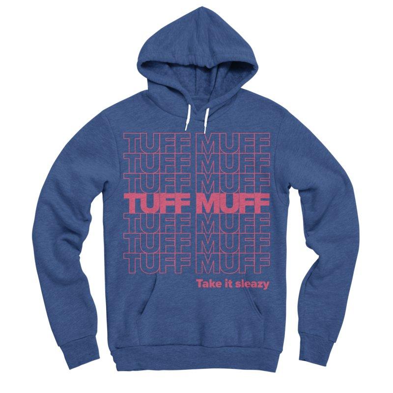 Tuff Muff - pink Men's Sponge Fleece Pullover Hoody by Jessika Savage Artist Shop