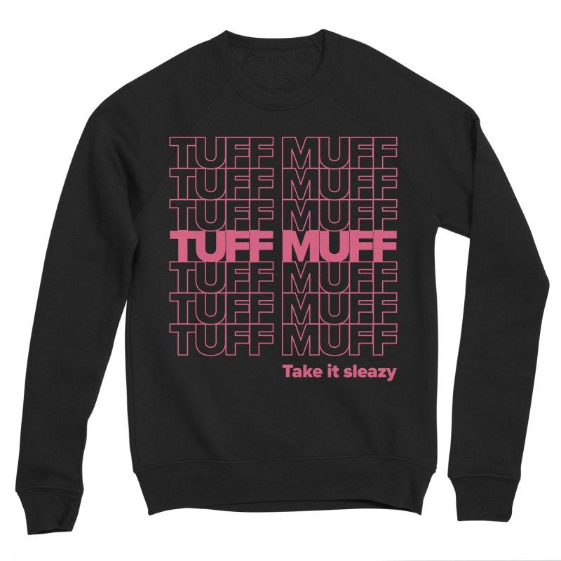 Tuff Muff - pink Men's Sponge Fleece Sweatshirt by Jessika Savage Artist Shop