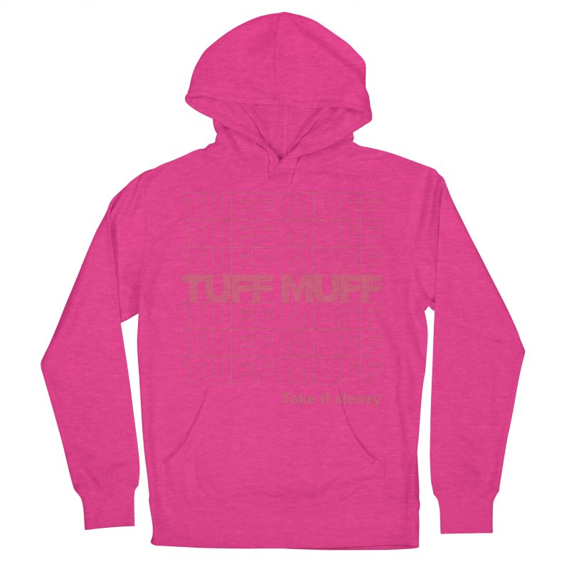 Tuff Muff - pink Women's French Terry Pullover Hoody by Jessika Savage Artist Shop
