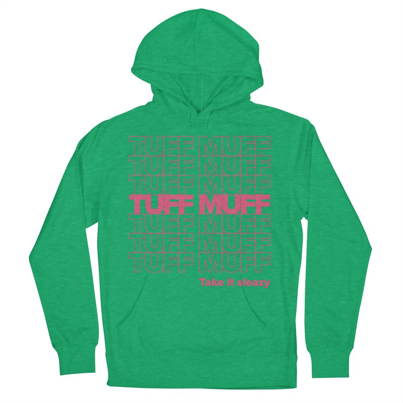 Tuff Muff - pink Men's French Terry Pullover Hoody by Jessika Savage Artist Shop