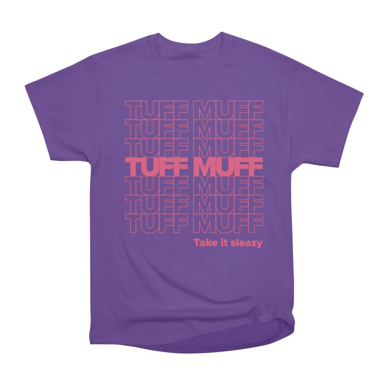 Tuff Muff - pink Men's Heavyweight T-Shirt by Jessika Savage Artist Shop