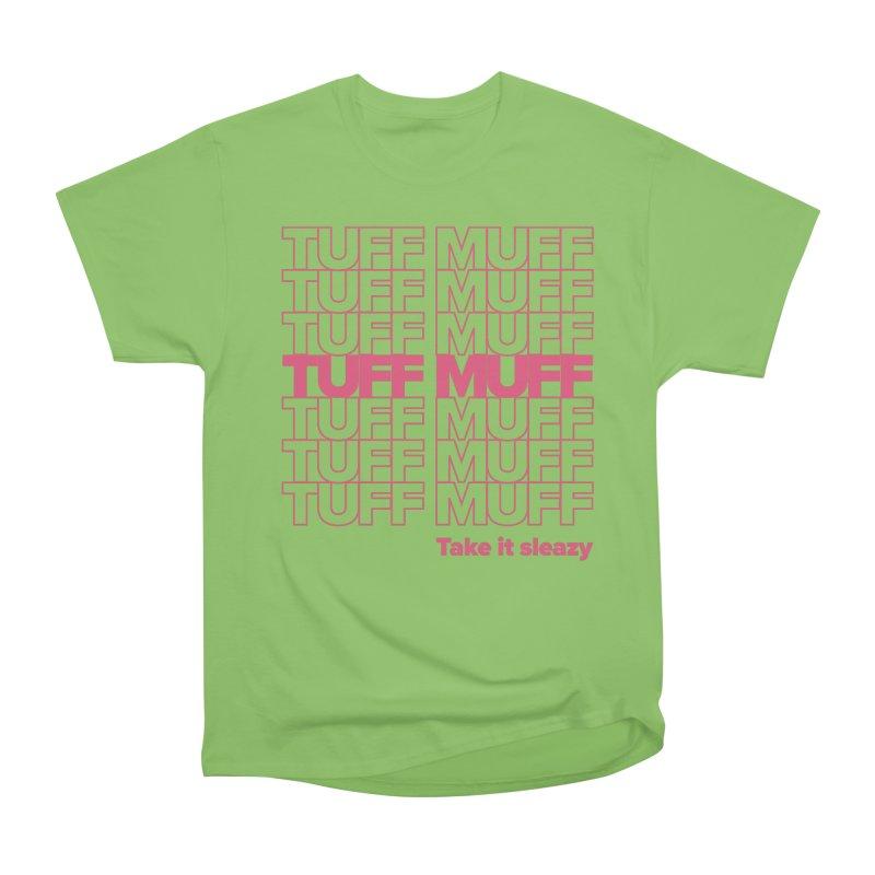 Tuff Muff - pink Men's Heavyweight T-Shirt by Jessika Savage Artist Shop
