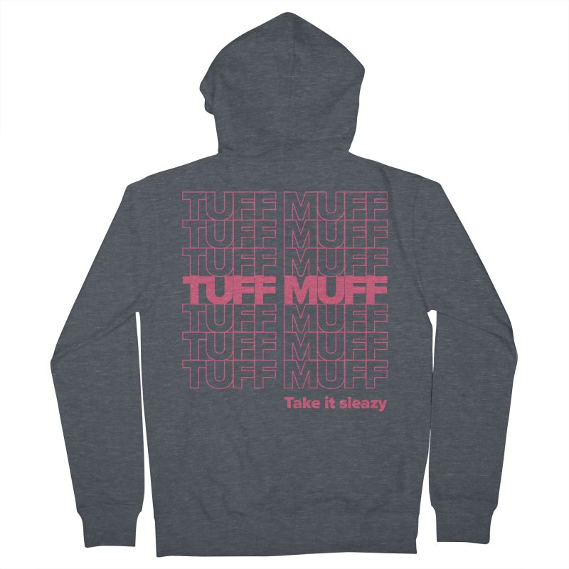 Tuff Muff - pink Women's French Terry Zip-Up Hoody by Jessika Savage Artist Shop