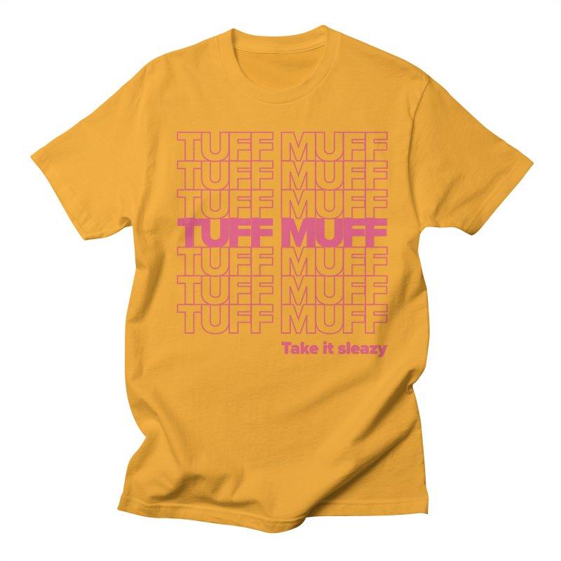 Tuff Muff - pink Men's Regular T-Shirt by Jessika Savage Artist Shop