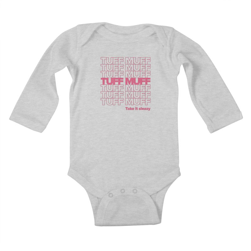 Tuff Muff - pink Kids Baby Longsleeve Bodysuit by Jessika Savage Artist Shop