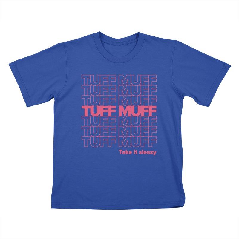 Tuff Muff - pink Kids T-Shirt by Jessika Savage Artist Shop