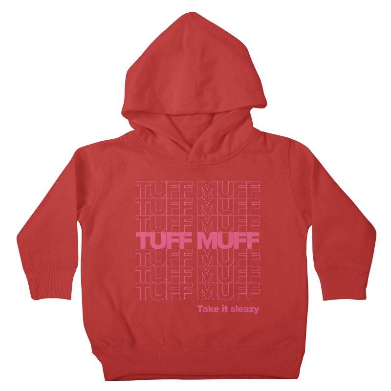 Tuff Muff - pink Kids Toddler Pullover Hoody by Jessika Savage Artist Shop