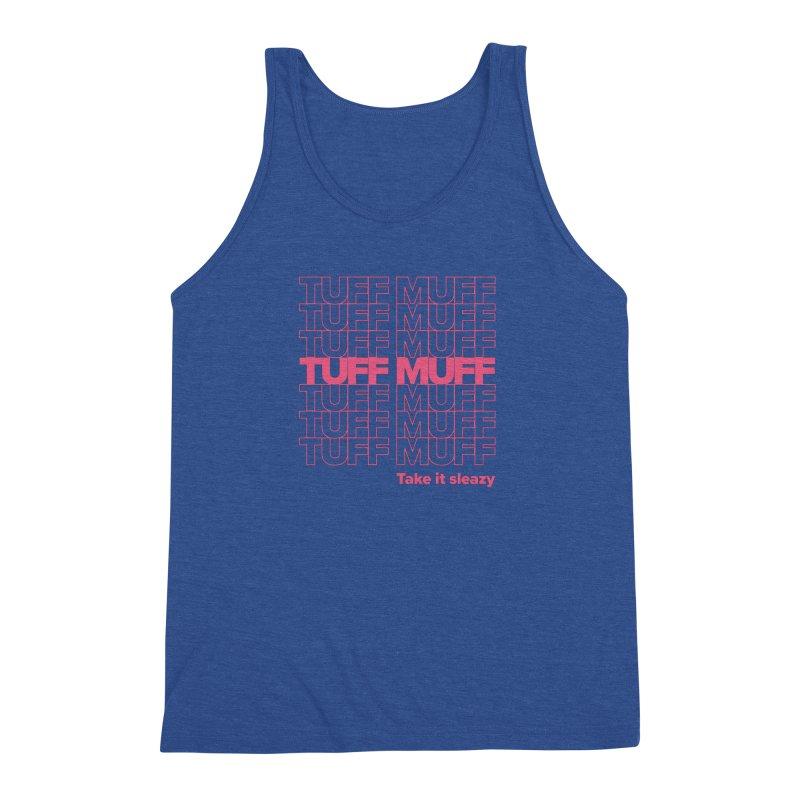 Tuff Muff - pink Men's Triblend Tank by Jessika Savage Artist Shop