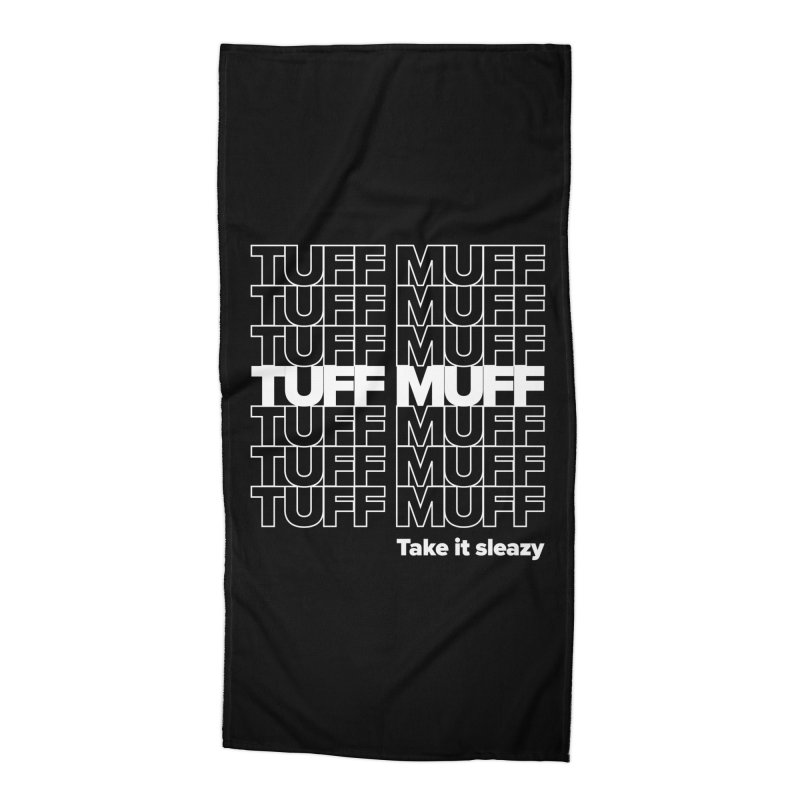 Tuff Muff - white logo Accessories Beach Towel by Jessika Savage Artist Shop