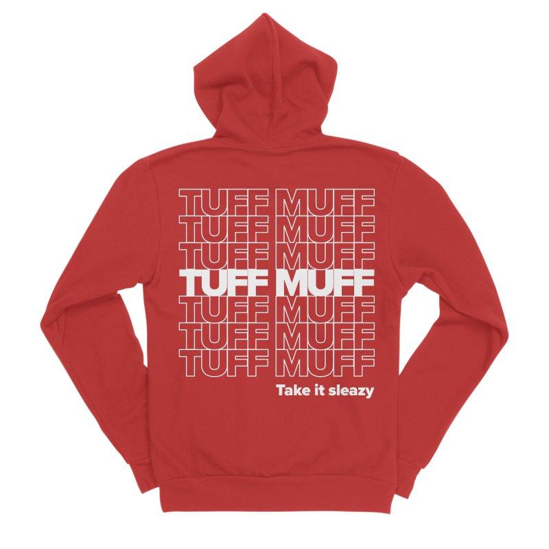 Tuff Muff - white logo Women's Sponge Fleece Zip-Up Hoody by Jessika Savage Artist Shop