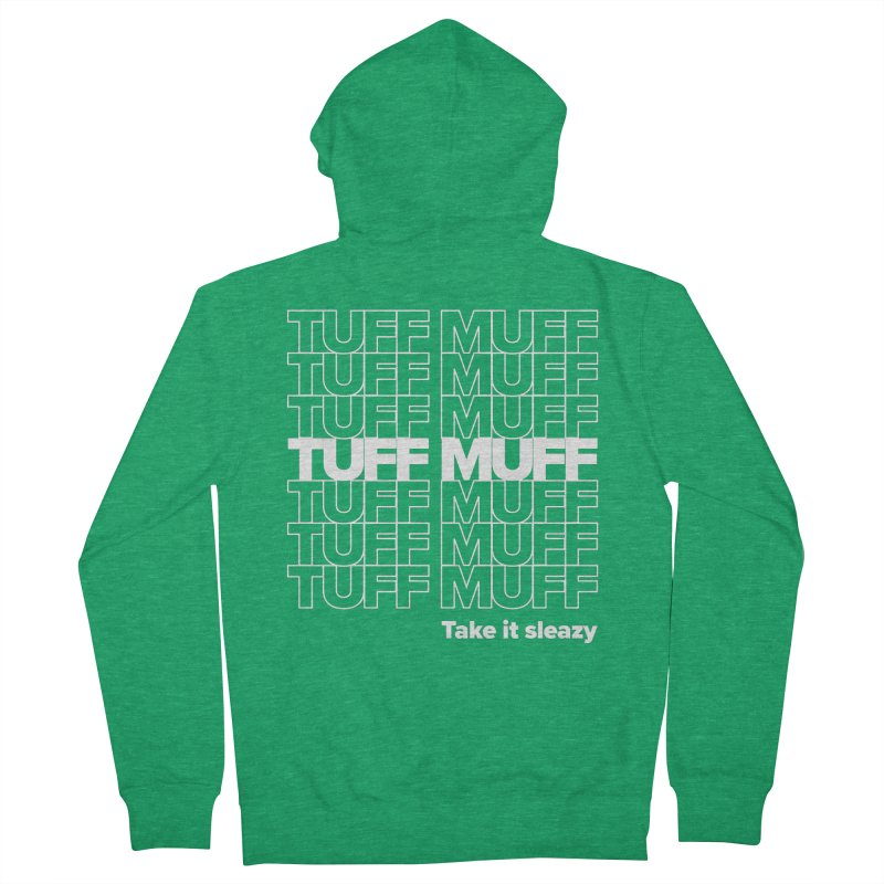 Tuff Muff - white logo Men's Zip-Up Hoody by Jessika Savage Artist Shop