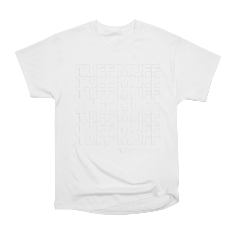 Tuff Muff - white logo Men's Heavyweight T-Shirt by Jessika Savage Artist Shop