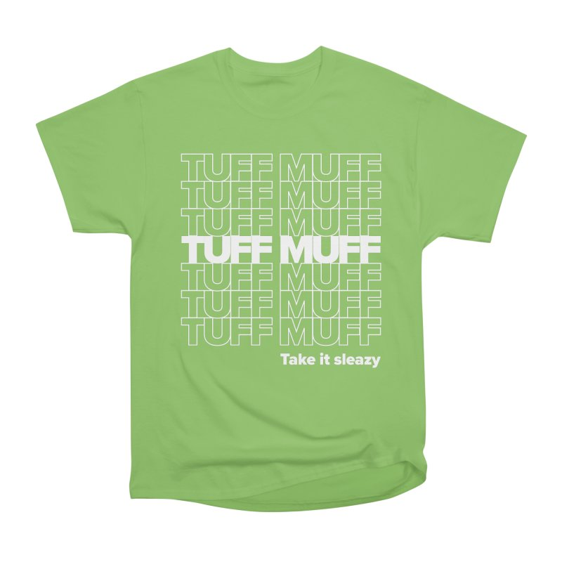 Tuff Muff - white logo Women's Heavyweight Unisex T-Shirt by Jessika Savage Artist Shop