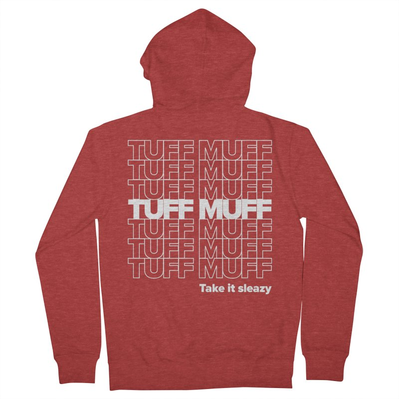 Tuff Muff - white logo Women's French Terry Zip-Up Hoody by Jessika Savage Artist Shop