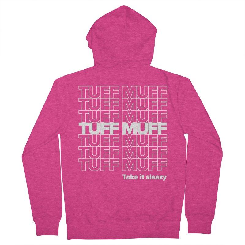 Tuff Muff - white logo Women's French Terry Zip-Up Hoody by Jessika Savage Artist Shop