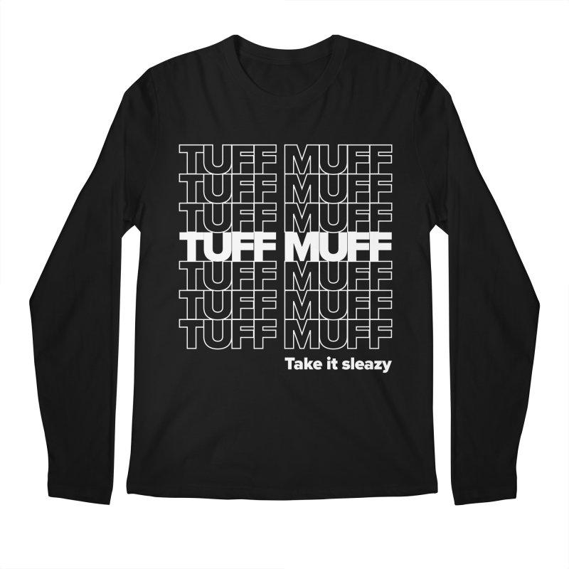 Tuff Muff - white logo Men's Regular Longsleeve T-Shirt by Jessika Savage Artist Shop