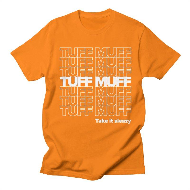 Tuff Muff - white logo Men's Regular T-Shirt by Jessika Savage Artist Shop