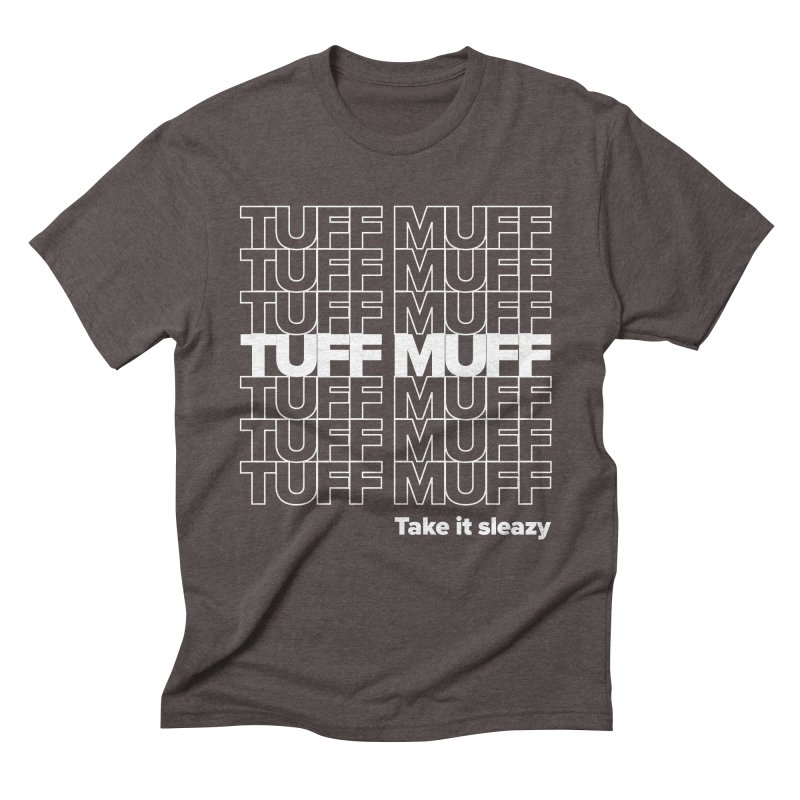 Tuff Muff - white logo Men's Triblend T-Shirt by Jessika Savage Artist Shop