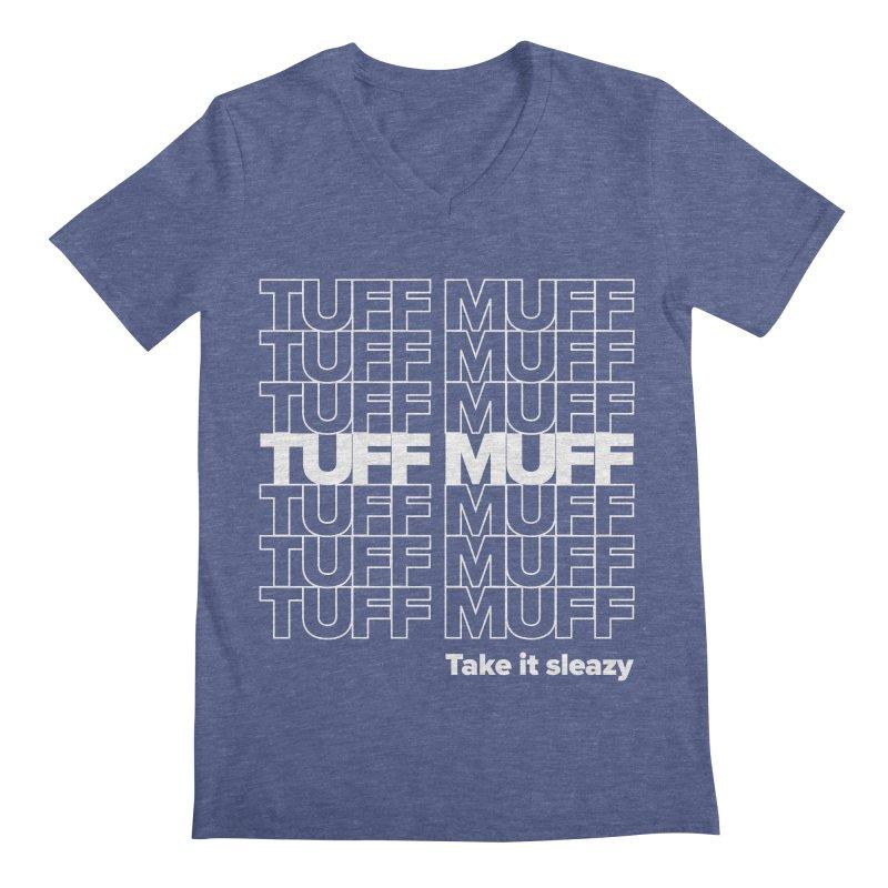 Tuff Muff - white logo Men's Regular V-Neck by Jessika Savage Artist Shop