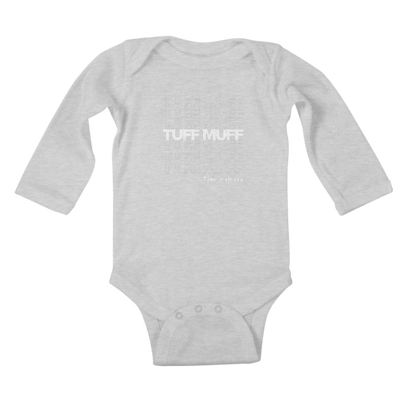 Tuff Muff - white logo Kids Baby Longsleeve Bodysuit by Jessika Savage Artist Shop