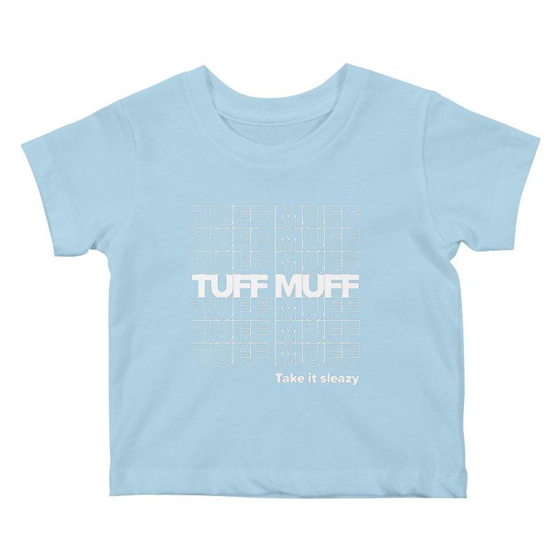 Tuff Muff - white logo Kids Baby T-Shirt by Jessika Savage Artist Shop