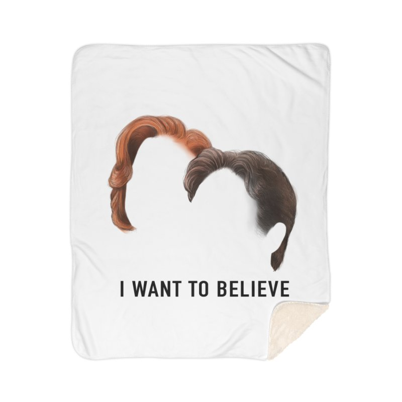 I WANT TO BELIEVE Home Sherpa Blanket Blanket by Jessika Savage Artist Shop