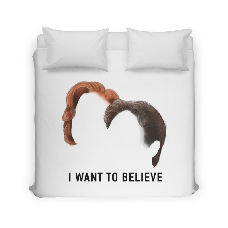 I WANT TO BELIEVE Home Duvet by Jessika Savage Artist Shop