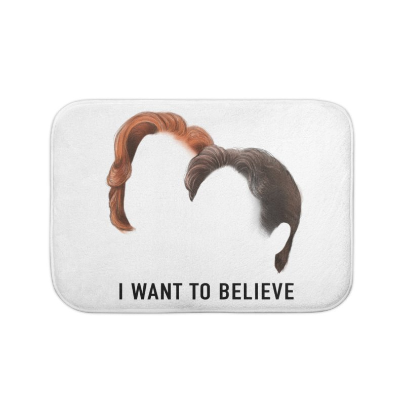 I WANT TO BELIEVE Home Bath Mat by Jessika Savage Artist Shop