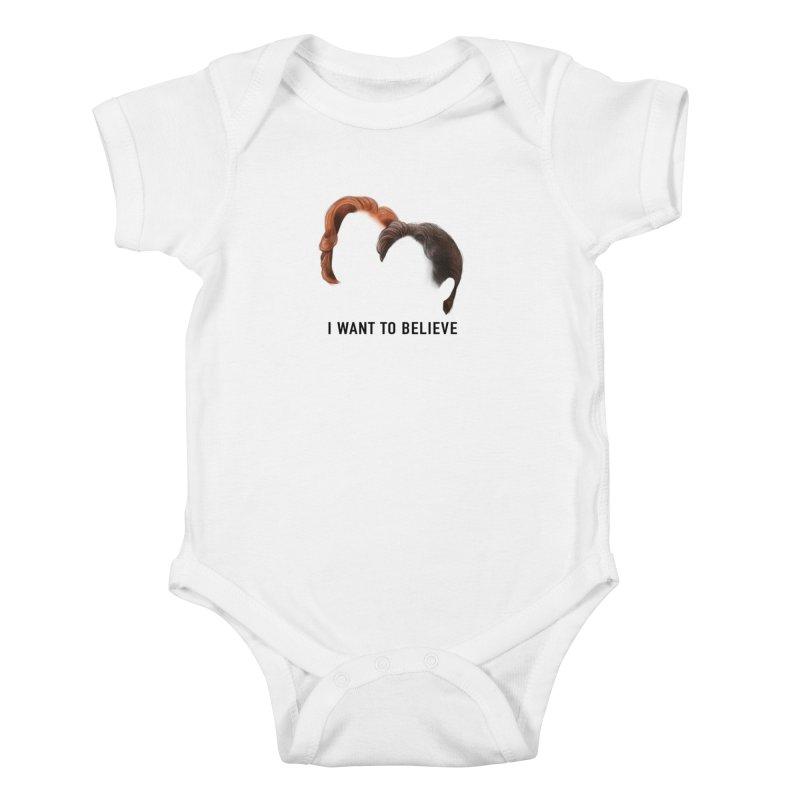 I WANT TO BELIEVE Kids Baby Bodysuit by Jessika Savage Artist Shop