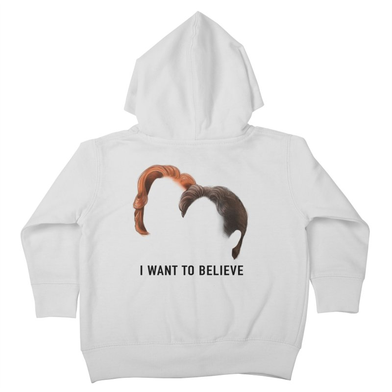 I WANT TO BELIEVE Kids Toddler Zip-Up Hoody by Jessika Savage Artist Shop