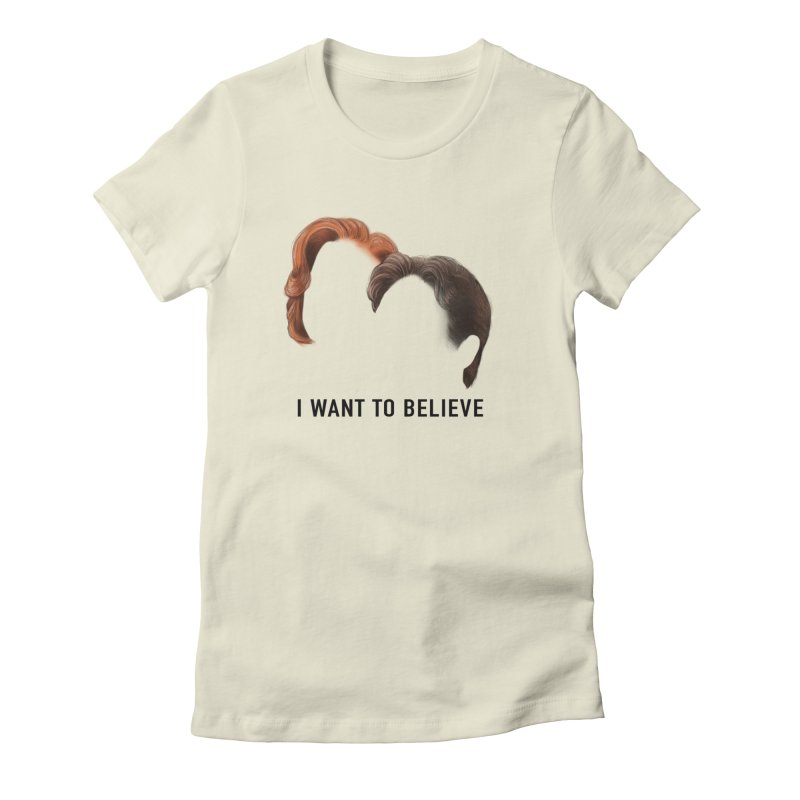 I WANT TO BELIEVE Women's Fitted T-Shirt by Jessika Savage Artist Shop