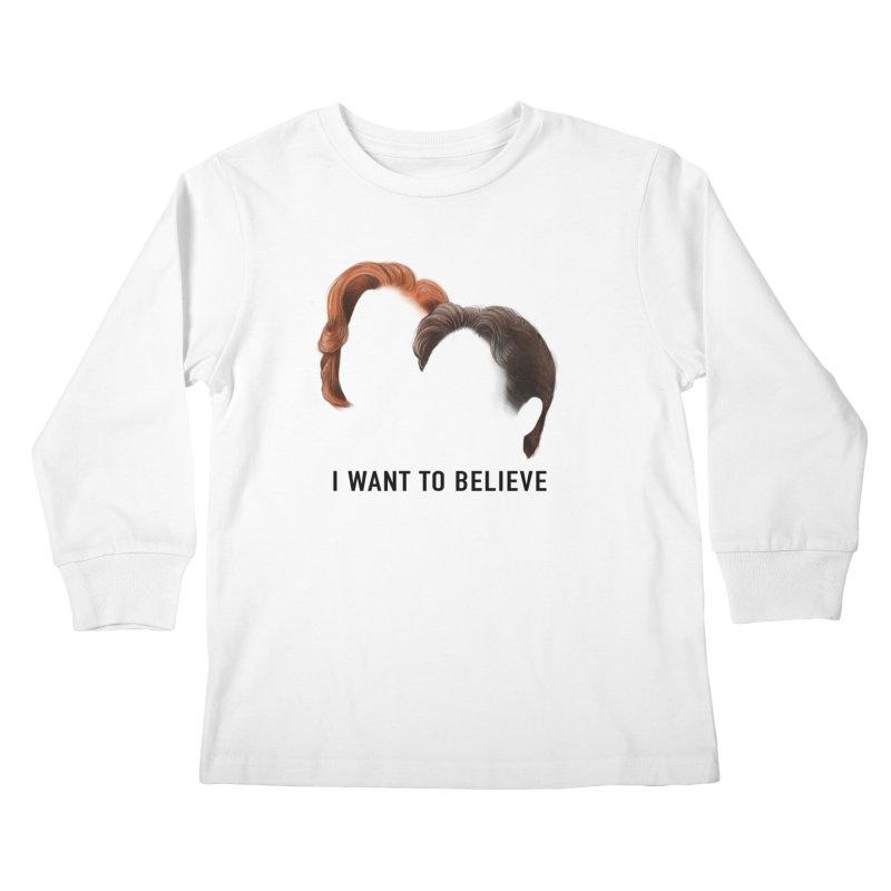 I WANT TO BELIEVE Kids Longsleeve T-Shirt by Jessika Savage Artist Shop